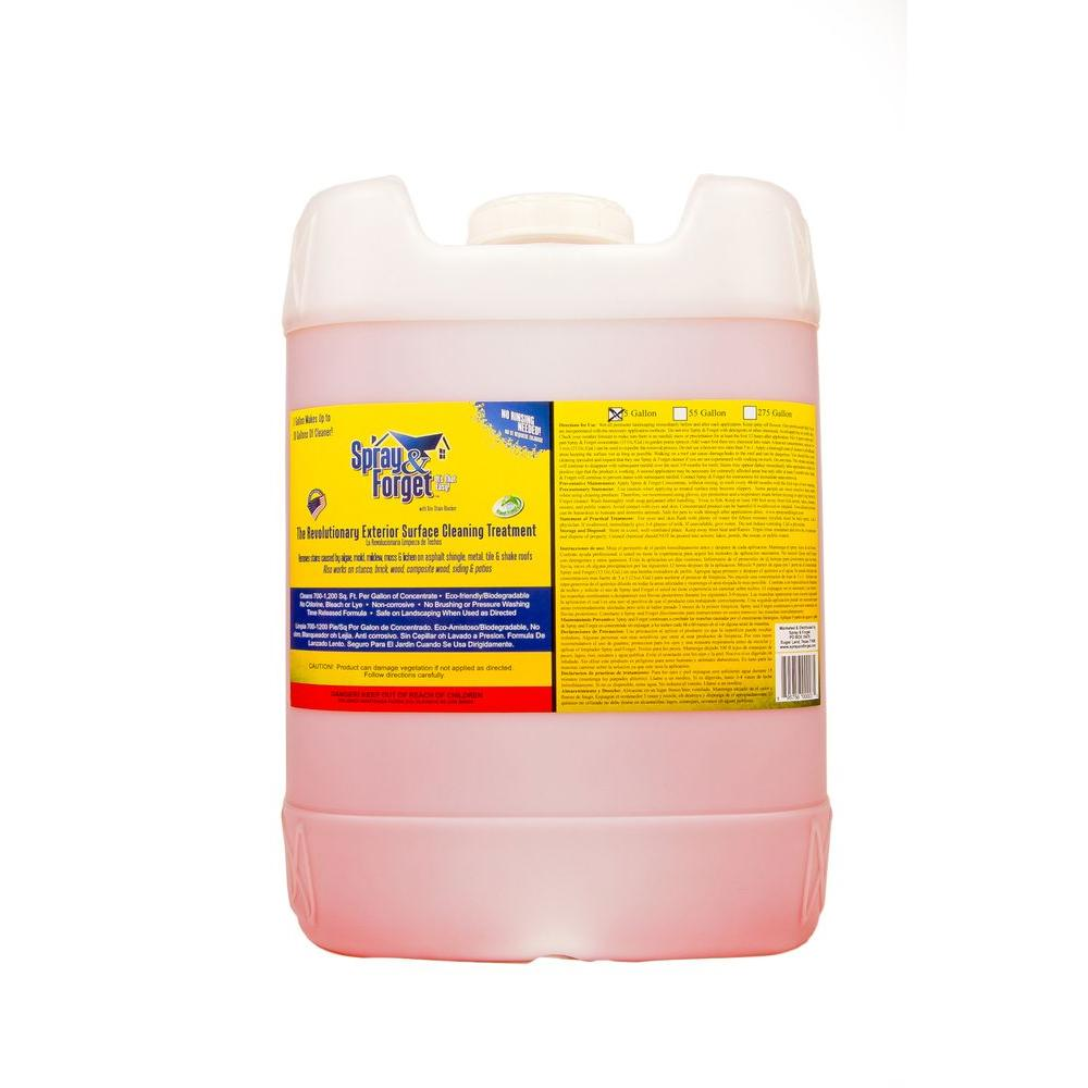 Spray & Forget 5 gal. Pail of Concentrated No-Rinse Eco-Friendly Roof and Exterior Surface Cleaner