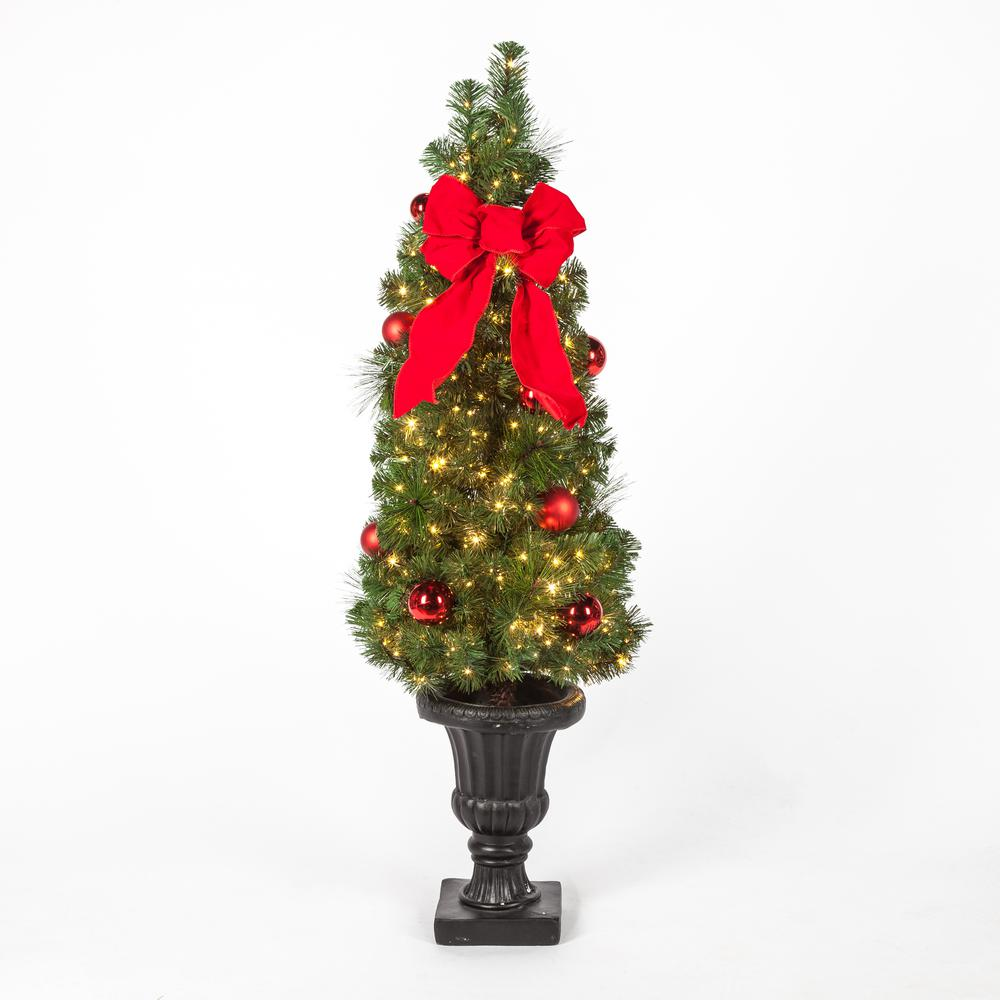 Pre Lit Christmas Tree Fuses: Christmas Tree Porch Pre-Lit LED Potted Artificial Mixed