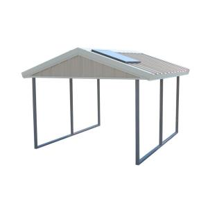 PWS Premium Canopy 12 ft. x 20 ft. Ash Grey and Polar White All Steel Carport Structure with Durable Galvanized Frame-S-1220-PW - The Home Depot  sc 1 st  Home Depot & PWS Premium Canopy 12 ft. x 20 ft. Ash Grey and Polar White All ...