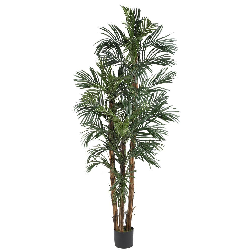 Nearly Natural 6 ft. Robellini Palm Silk Tree
