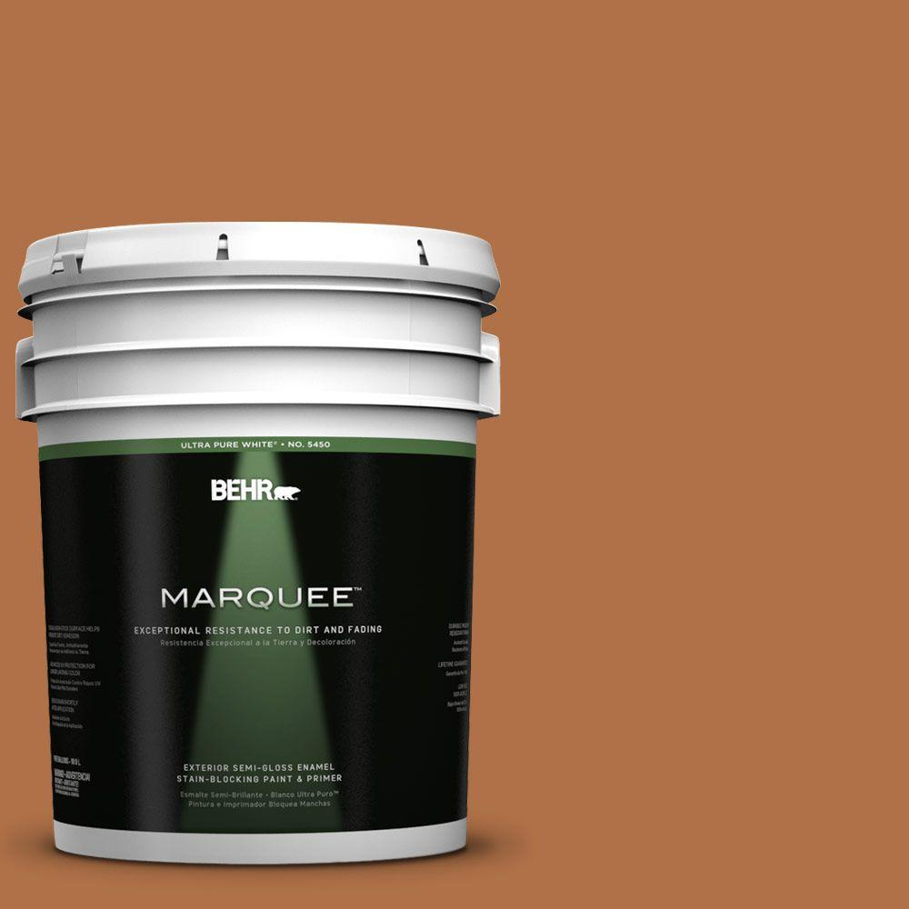 5-gal. #PMD-41 Copper Mine Semi-Gloss Enamel Exterior Paint