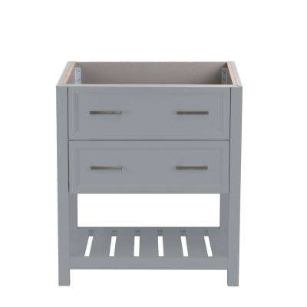 Milan 31 in. W x 22 in. D Bath Vanity Cabinet Only in Grey