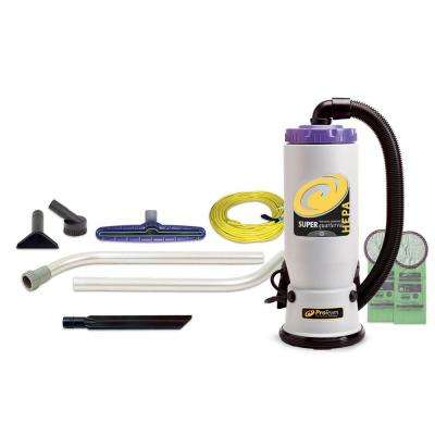 Super QuarterVac HEPA 6 qt. Backpack Vac with Xover Multi-Surface 2-Piece Wand Tool Kit