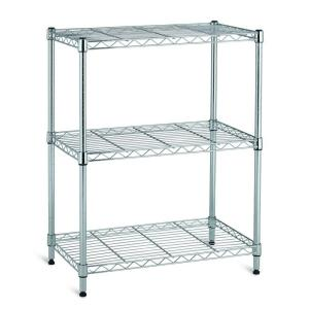 3 Shelf 30 inch H x 24 inch W x 14 inch D Wire Unit in Chrome