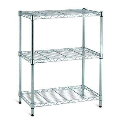 3 Shelf 30 in. H x 24 in. W x 14 in. D Wire Unit in Chrome