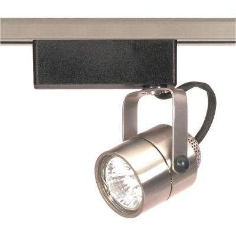 1-Light MR16 12-Volt Brushed Nickel Round Track Lighting Head