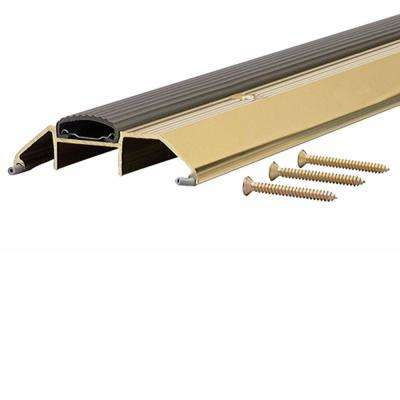 72 in. Bright Gold Deluxe Low Aluminum Threshold with Vinyl Seal