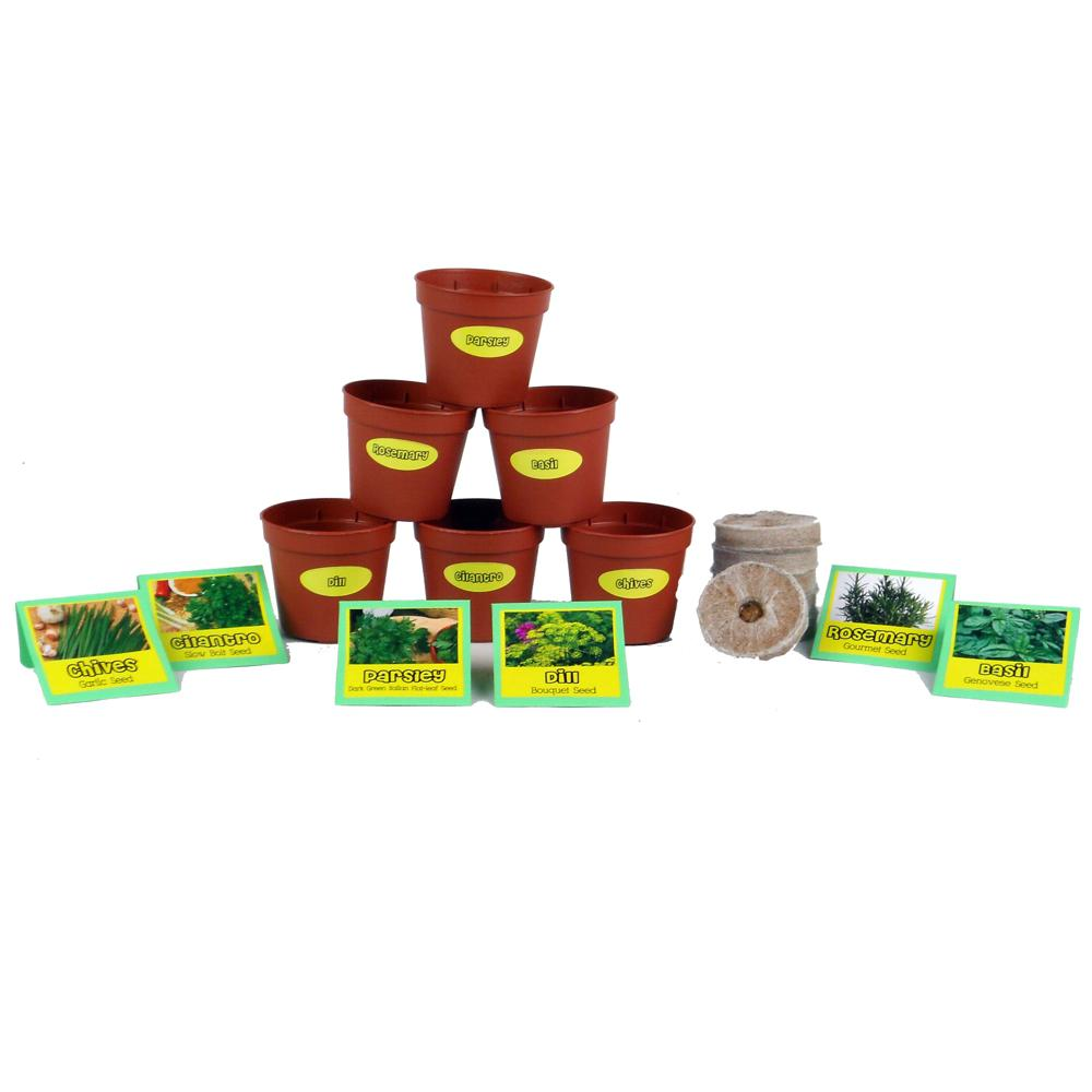Chef S Herb Garden Seed Starter Kit Chp102216 The Home Depot