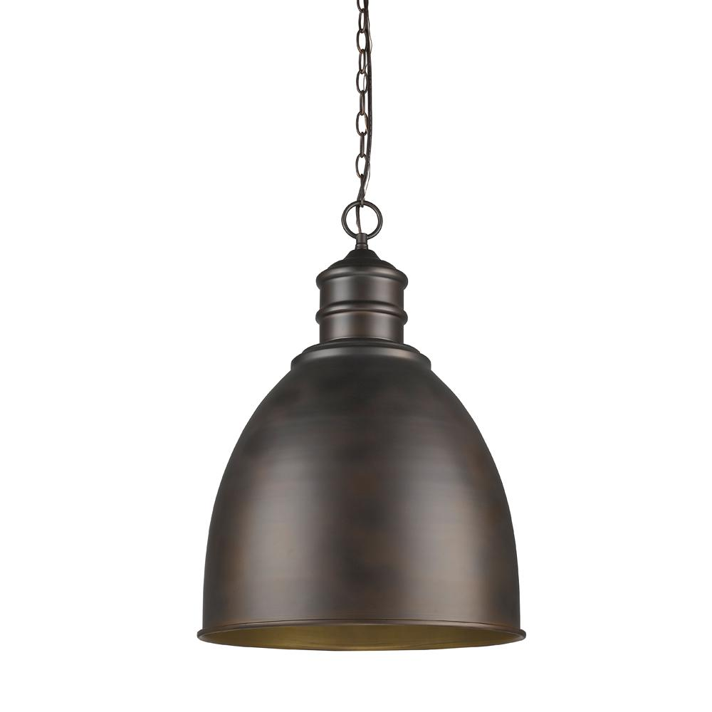 Acclaim Lighting Colby 1 Light Indoor Oil Rubbed Bronze Pendant With Metal Shade
