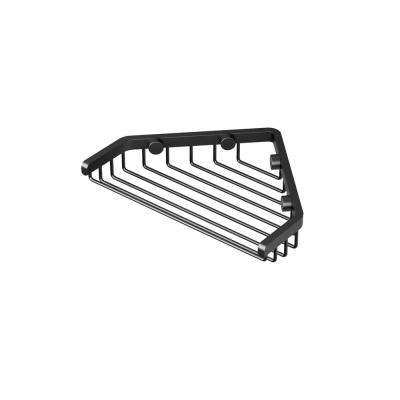 7 in. Shower Basket in Matte Black