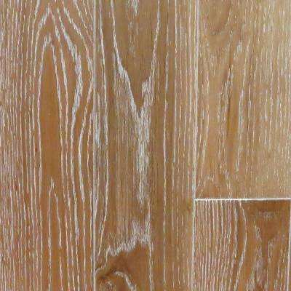 Take Home Sample - Oak Charleston Sand Wire Brushed Hardwood Flooring - 5 in. x 7 in.
