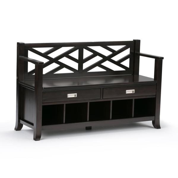 Simpli Home Sea Mills Solid Wood 47 In Wide Contemporary