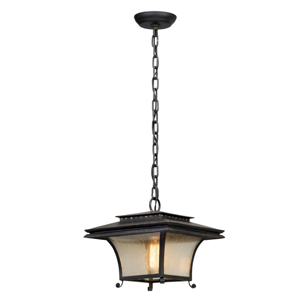 Troy Lighting Grammercy 1-Light Forged Iron Outdoor Pendant