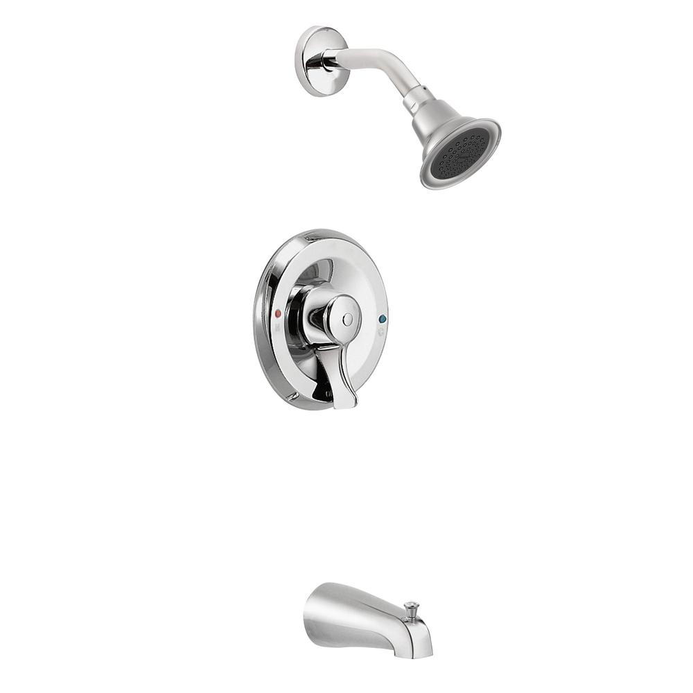 Commercial Posi-Temp Single-Handle Tub and Shower Faucet Trim Kit in Chrome (Valve Not Included)