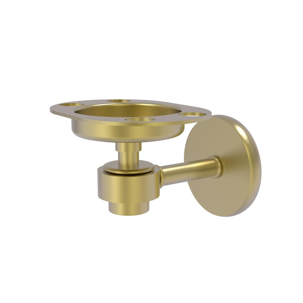 Satellite Orbit 1-Tumbler and Toothbrush Holder in Satin Brass