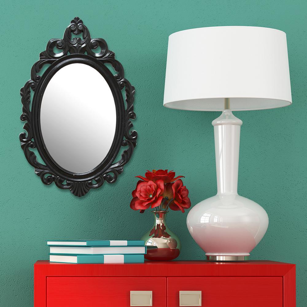 Black Baroque Decorative Mirror