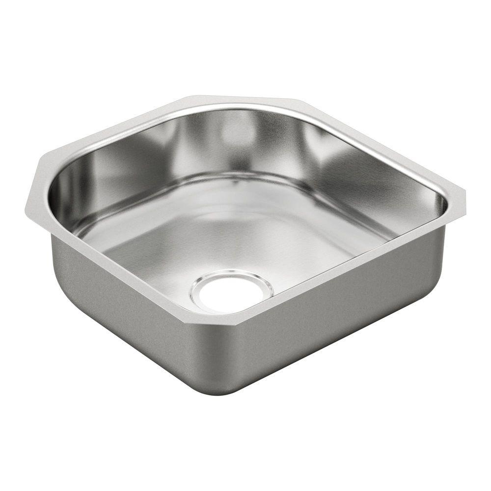 Moen 2000 Series Undermount Stainless Steel 20 In Single Bowl Kitchen Sink G20160 The Home Depot