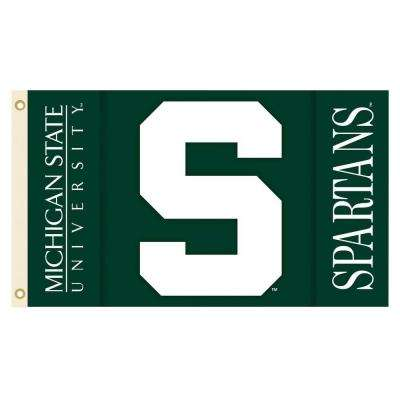 NCAA Michigan State Spartans 3 ft. x 5 ft. Collegiate 2-Sided Flag with Grommets