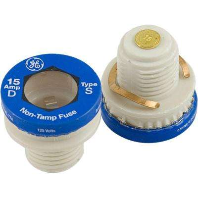 15 Amp Type S/SL Time Delay Fuse (2-Pack)