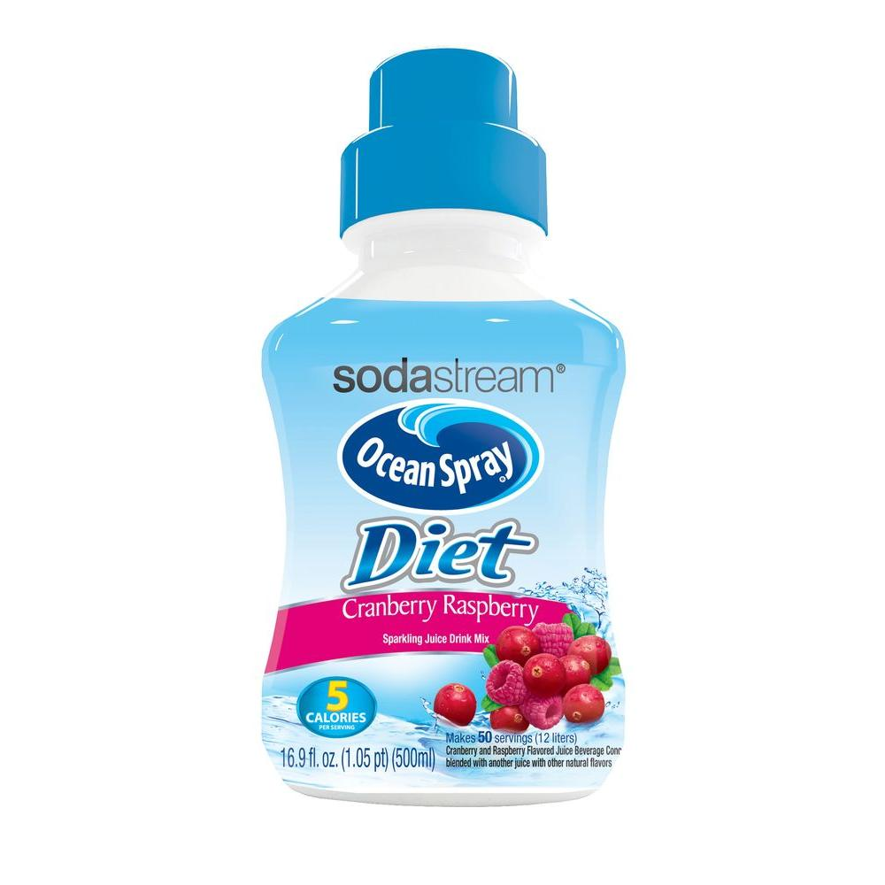 SodaStream 500 ml Soda Mix - Ocean Spray Diet Cranberry Raspberry (Case of 4)