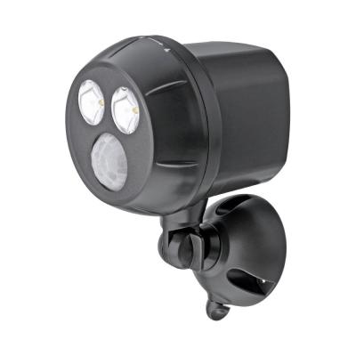 Outdoor UltraBright 450 Lumen Battery Powered  Motion Activated Integrated LED Spotlight, Brown