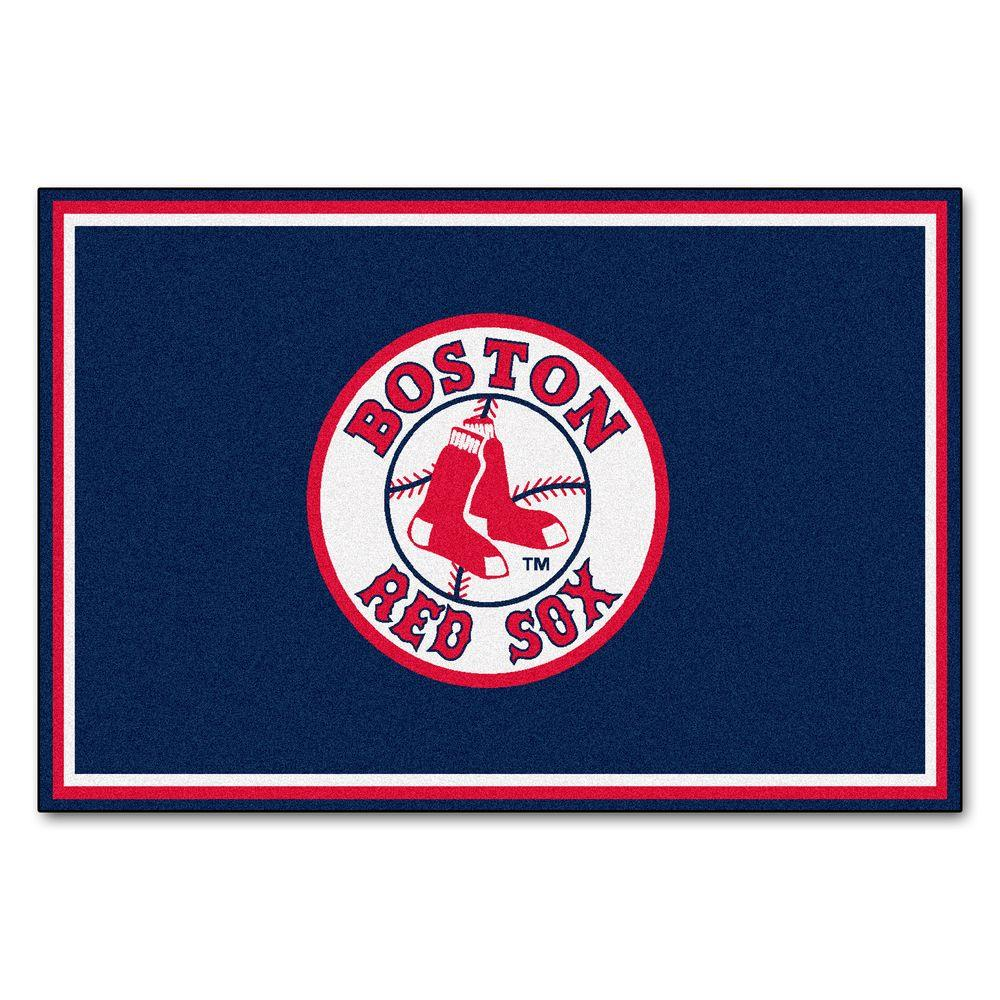 FANMATS Boston Red Sox 5 ft. x 8 ft. Area Rug-6964 - The ...