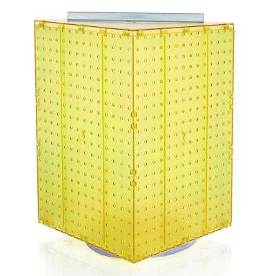 20 in. H x 14 in. W Interlock Pegboard Tower on a Revolving Base in Yellow