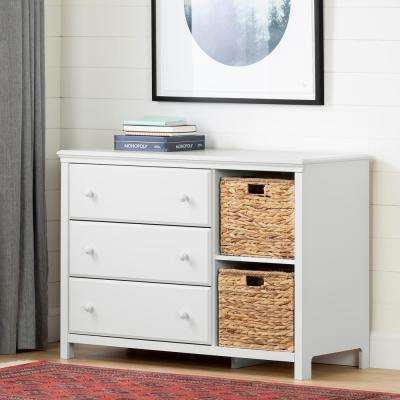 Cotton Candy 3-Drawer Pure White Dresser