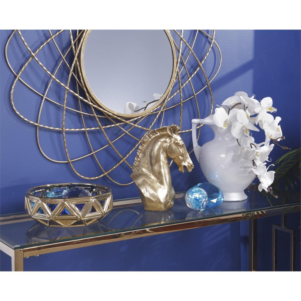 White Exotic Decorative Modern Ceramic 2-Handled Urn