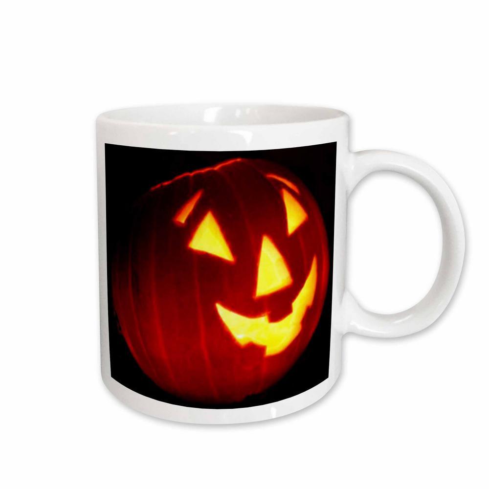 Sandy Mertens Halloween Designs 11 oz. White Ceramic Halloween Jack o Lantern Mug