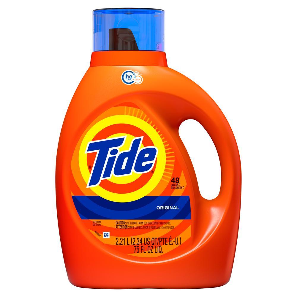 Tide 75 Oz Original Scent He Liquid Laundry Detergent 48