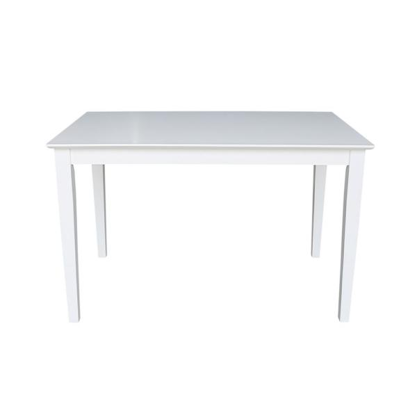 International Concepts 30 in. x 48 in. Pure White Shaker Dining