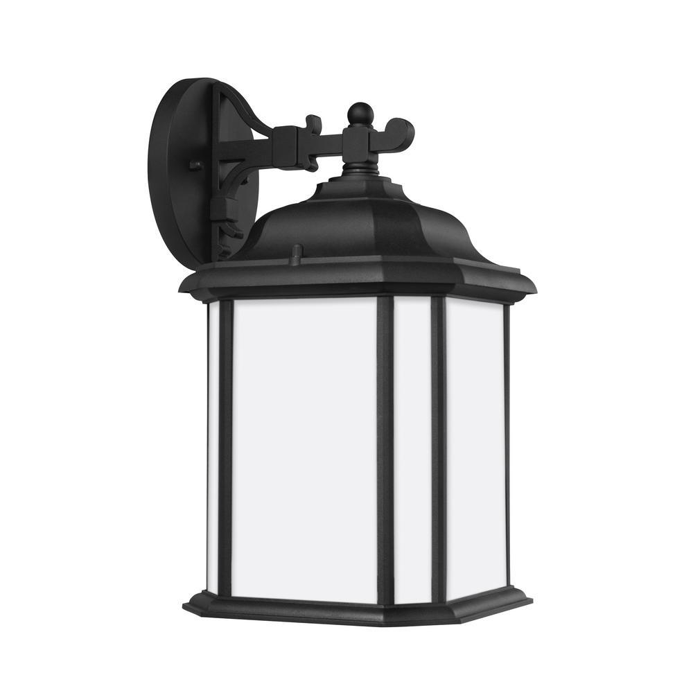Kent 1-Light Black Outdoor Wall Mount Lantern