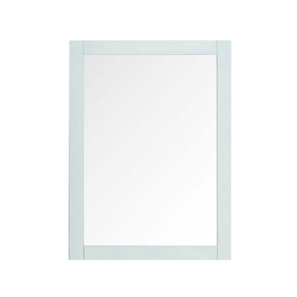 Home Decorators Collection Orillia 30 in. x 22 in. Single Framed Wall Mount Mirror in Misty Latte