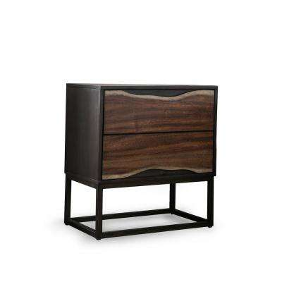 Clark 2-Drawer Dark Oak, Dark Walnut Nightstand