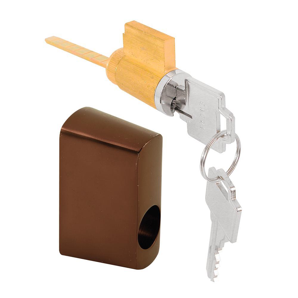 Oil Rubbed Bronze Offset Door Key Lock with Housing