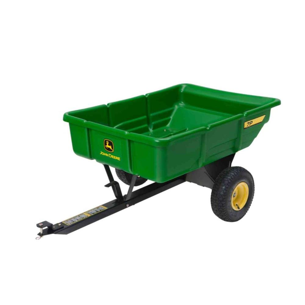 John deere 450 lb 7 cu ft tow behind poly utility cart for 7p decoration