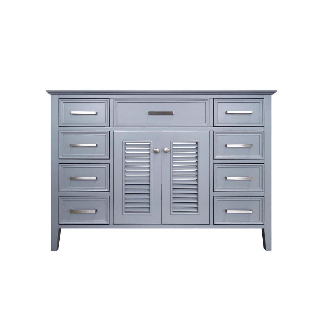 Kensington 48 in. Bath Vanity Cabinet Only in Grey