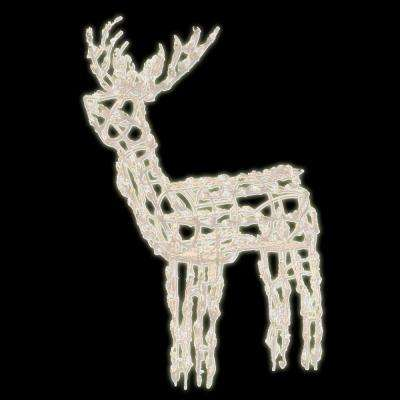 48 in. 60-Light LED Standing Buck