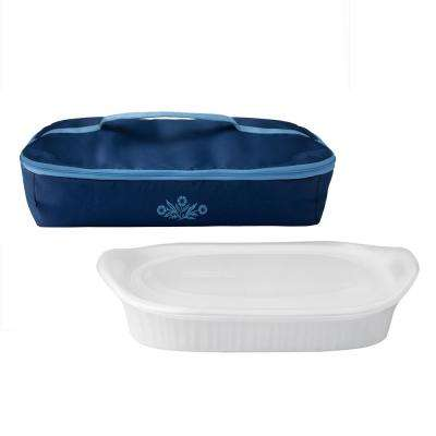 Cornflower 3-Qt Porable Ceramic Bakeware Set