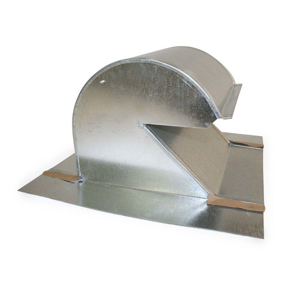 10 in  Galvalume Steel Gooseneck Vent-60010 - The Home Depot