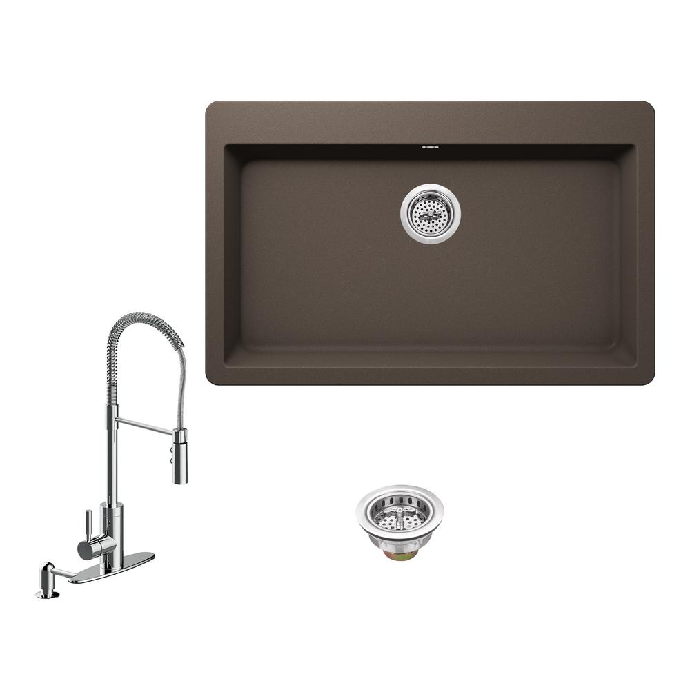 Ipt sink company all in one drop in granite composite 33 for The kitchen sink company