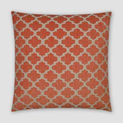 Keaton Orange Feather Down 18 in. x 18 in. Standard Decorative Throw Pillow