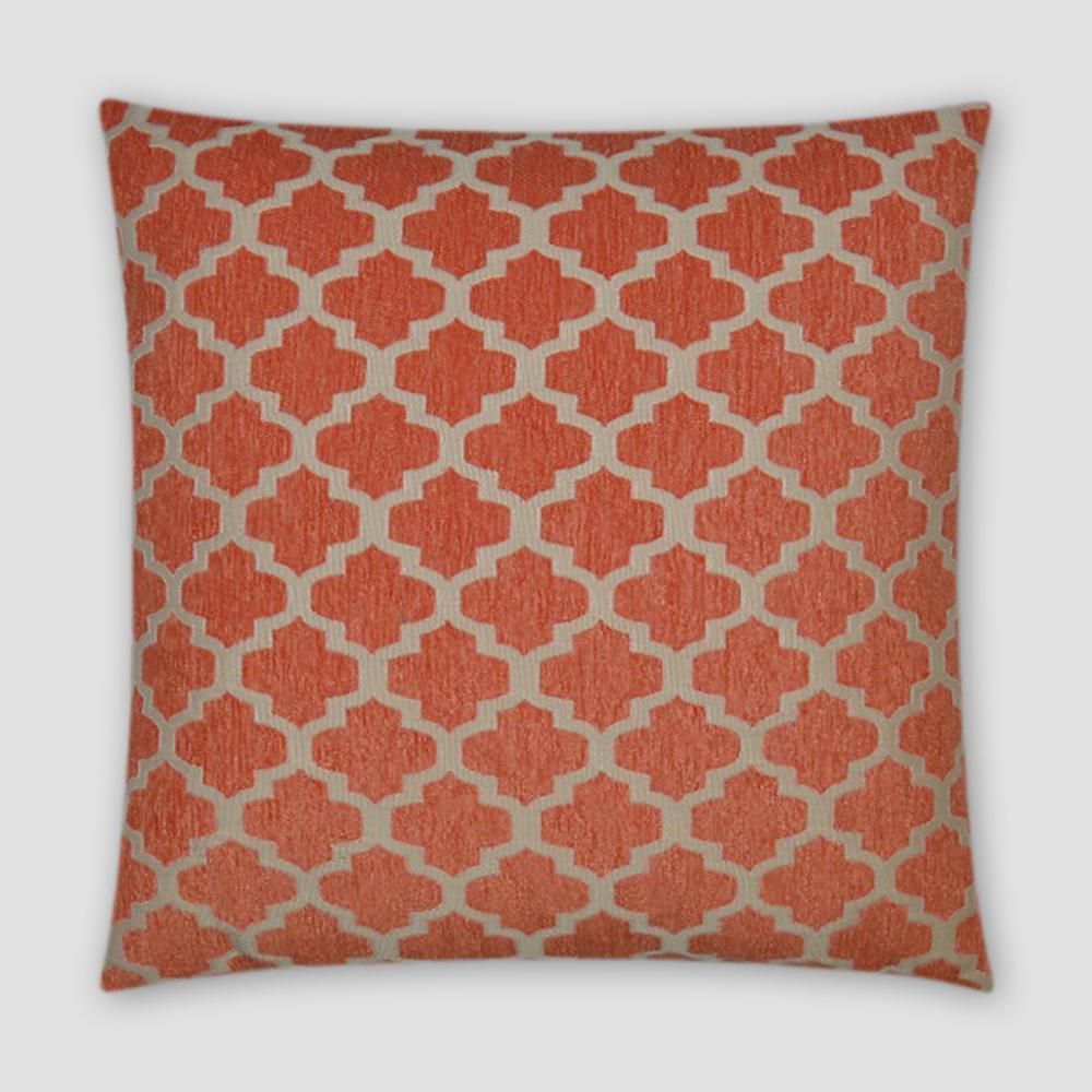 Keaton Orange Feather Down 18 in. x 18 in. Standard Decorative Throw Pillow