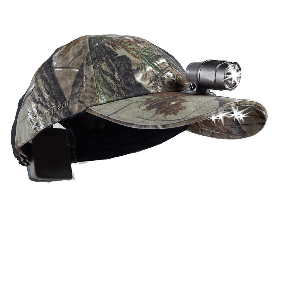 5 LED Baseball Cap Batteries inc Black Camo Hands Fre Light Fishing Camping Work