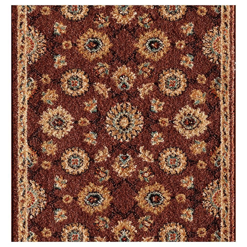 Kurdamir II Alhambra Chestnut 26 in. x Your Choice Length Roll Runner