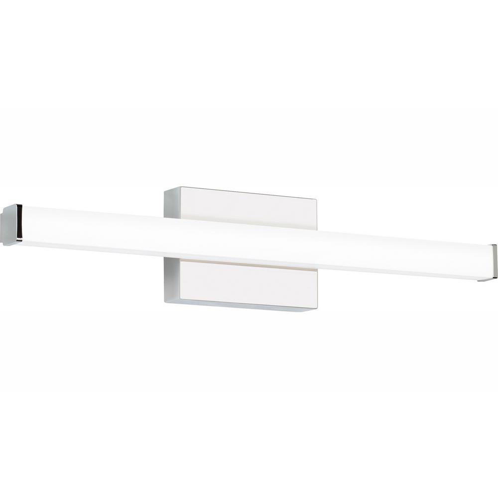 LBL Lighting Lufe Round 24 Bath 23.3-Watt Polished Chrome Integrated LED Bath Light