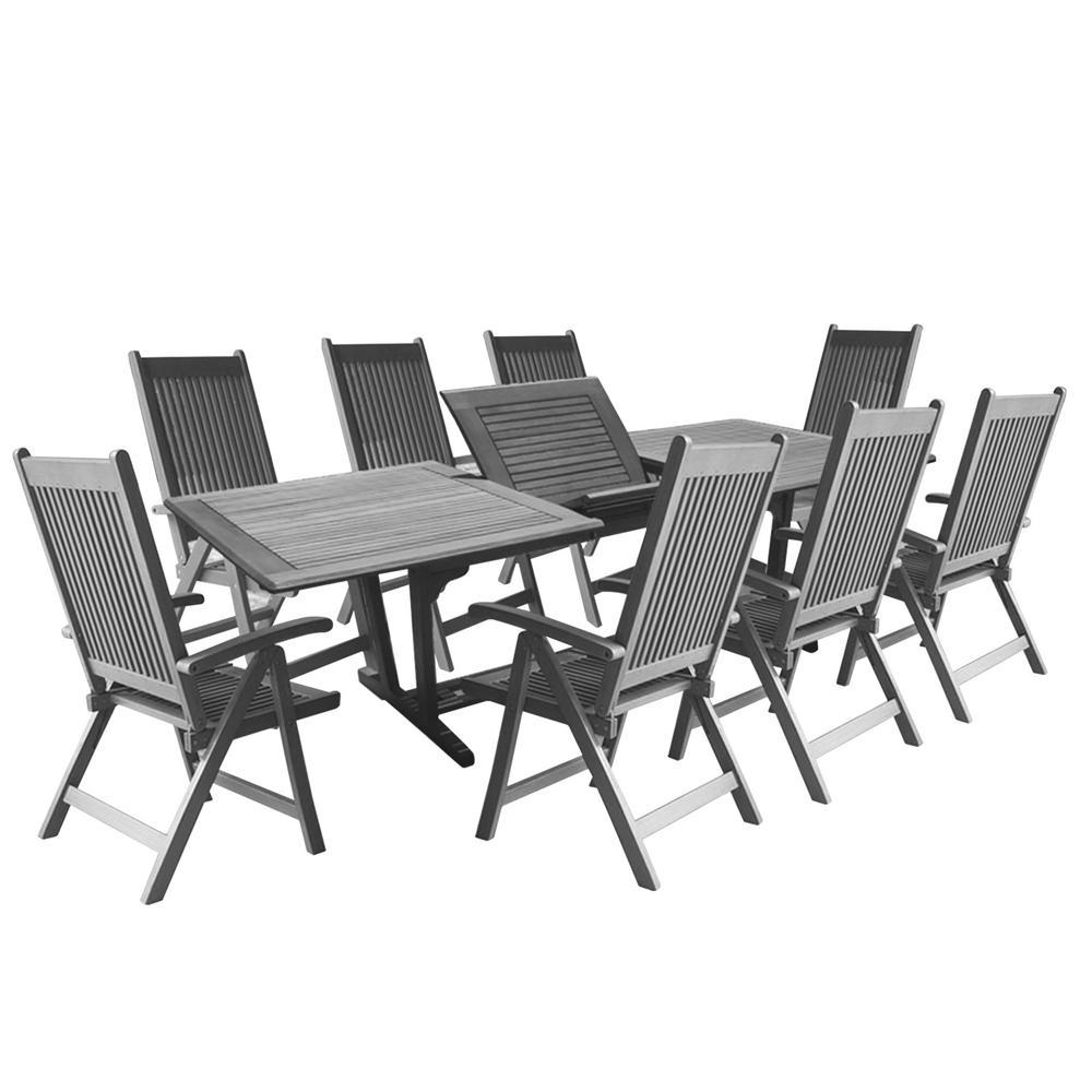 Neo Renaissance 9 Piece Traditional Dining: Vifah Renaissance 9-Piece Wood Rectangular Outdoor Dining
