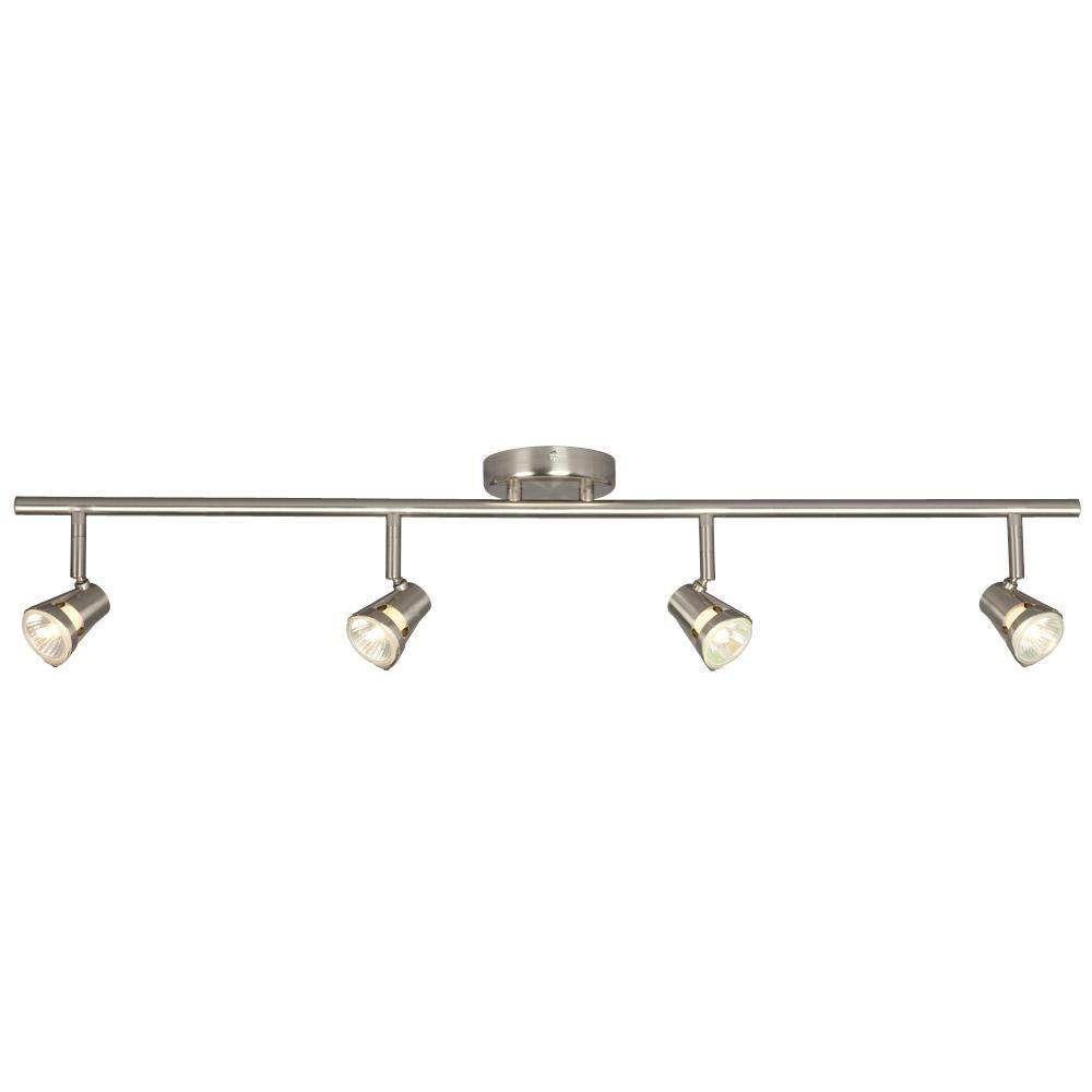 Negron 4-Light Brushed Nickel Track Lighting with Directional Heads