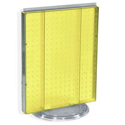 20.25 in. H x 16 in. W Revolving Pegboard Counter Display Yellow
